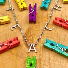 TEACH Letter Necklace