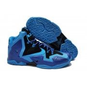 Cheap Nike Lebron 11 Blue Black Purple Shoes $107.90  http://www.blackonshoes.com