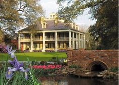 """Houmas House , Darrow,LA   Called the """"Crown Jewel"""" of Louisiana's River Road. 38 lush acres and 16 rooms filled with period antiques  and Louisiana artwork. """"The Sugar Palace."""" On the National Register of Historic Places. It has a cafe open 7 days a week."""