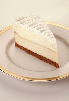 Chuck's favorite Cheesecake from the cheese cake factory    Vanilla Bean Cheesecake    Layers of Creamy Vanilla Bean Cheesecake, Vanilla Mousse and Whipped Cream.