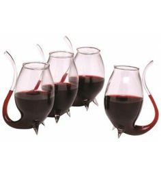 Porto Wine Sippers! Guaranteed conversation pieces. These hand-blown serving wine sippers are an especially enjoyable way to savor port, dessert wine or liqueurs. Buy a set from our store (http://www.noroip.com/invented4you/shop-products/porto-wine-sippers/) #wine #wineglasses #glass #glasses #sipper #sippers #wineglass #invented4you