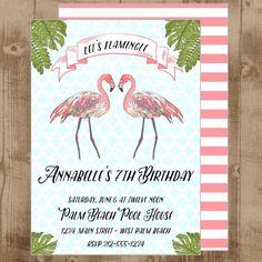 palm beach flamingo invite