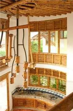 Guadua bamboo surrounding the kitchen area
