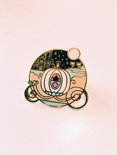 Cinderella Pumpkin Carriage enamel pin.