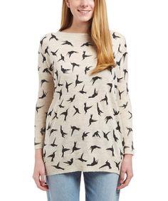 Cream Hummingbirds Sweater
