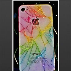Take your cracked iPhone & Get different colored sharpies and color your cracks (no water damage) Saves $ on getting it fixed right away! You can do sharpie food coloring or highlighters. Highlighters are the weakest. That's what I did