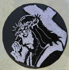 A Journey into Quilling and Paper Crafting: Jesus Bearing Cross Portrait