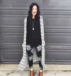 "1,804 Likes, 137 Comments - LuLaRoe (@lularoe) on Instagram: ""LOVE this black and white print-on-print outfit brought to you by @lularoemadison....finished off…"""