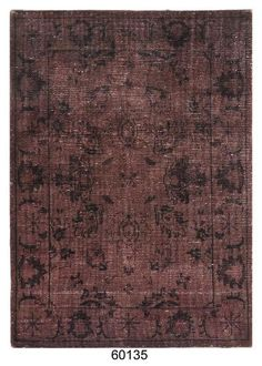 Hand-Knotted Over-Dyed Vintage Wool Rug