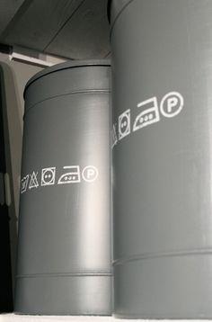 Stoere wasmand van LABEL51 in industriële stijl. Niet alleen erg leuk om te zien, ook erg efficiënt! #wasmand #industrieel #metaal