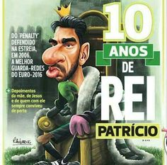 King Patricio 10 years at SCP Best Club, Scp, Grande, Sports, Movie Posters, Movies, Futbol, Amor, Caricatures