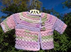 Baby in Bloom Sweater | AllFreeCrochet.com