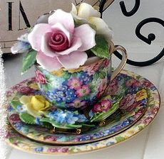 Like this chintz ware!  Repinned of Laura James