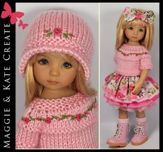 PINK Outfit for Little Darlings Dianna Effner 13  Maggie & Kate Create