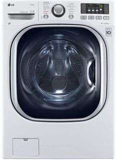 White With Steam Cycle Electric Washer/Dryer Combo - Dryers Product Features 14 Wash Cycles Steam Technology RPM Spin Speed Ventless Condensing Drying Dryers Product Description Cu. White With Steam Cycle Electric Washer/Dryer Combo Lg Washer And Dryer, Stainless Steel Drum, Lg Electronics, Front Load Washer, Laundry Room Storage, Laundry Closet, Laundry Rooms, Energy Star, Small Bathrooms
