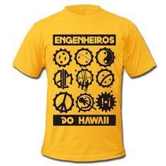 Camiseta Engenheiros do Hawaii Simbolos