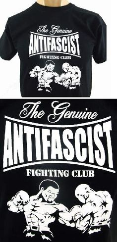 Camiseta negra - Boxeo - The Genuine Antifascist Fighting Club. Pedidos: www.barrio-obrero.com Síguenos en: www.facebook.com/AntifascistFightingClub