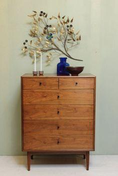 Vintage 1950's Drexel Declaration High Boy Dresser: Mid Century Modern Bedroom #MidCenturyModern #Drexel
