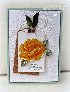 White House Stamping: Stippled Blossom Tag...
