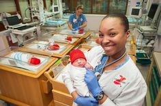 Newborns at Memorial Regional Medical Center were caught wearing red for National Wear Red Day!