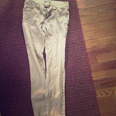 Khaki Skinny Pants Gently used,in good condition. Wax Jeans Pants Skinny