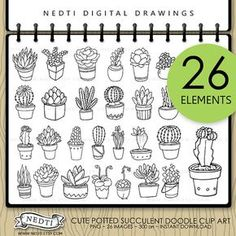 Hey, I found this really awesome Etsy listing at https://www.etsy.com/listing/204415583/potted-succulent-hand-drawn-clip-art