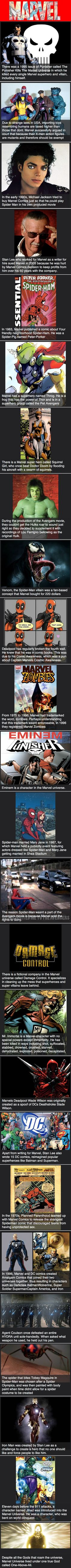 Love Marvel? Here are some interesting and weird facts you may not have known about.