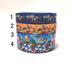 YARD PEANUTS SNOOPY CHARLIE BROWN GROSGRAIN RIBBON CHARACTER RETRO