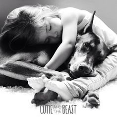 Cutie & The Beast: Girl And Doberman Do Everything Together From Sleeping To Bathing. | So many great pictures of these two together. cutieandthebeast.com