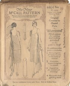 Vintage Chanel dress pattern; McCall 4464