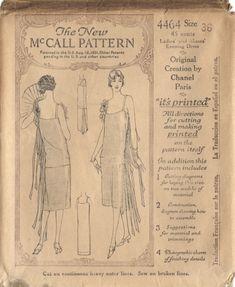Chanel's little black dress pattern McCall 1926