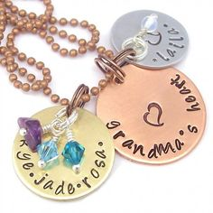 Pretty Necklace stamped with ImpressArt stamps Mark your product with your very own R-Buster logo hand Stamp http://www.columbiamt.com/store/Logo_R-Buster_Hand_Stamps.html