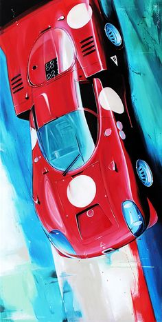Art Alfa romeo tipo 33 2 daytona, oil on canvas Car Themes, Illustration Art, Illustrations, Car Drawings, Motor Sport, Automotive Art, Canvas Prints, Art Prints, Drawing Skills
