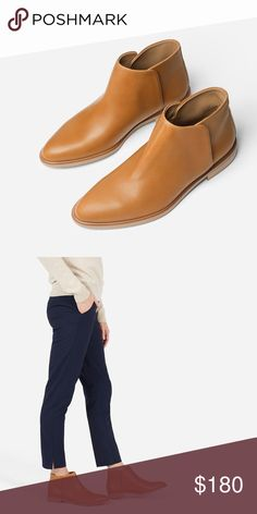 Everlane Modern Boot in Camel Worn once, in excellent condition. Practically brand new. Pictures coming soon. Everlane Shoes Ankle Boots & Booties