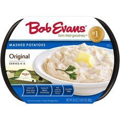 THURS $3.99- Bob Evans Original Mashed Potatoes Bob Evans Sausage Gravy Recipe, Butter Potatoes, Perfect Mashed Potatoes, Instant Potatoes, Potatoe Casserole Recipes, Dinner Sides, Food Preparation, Eat, Cooking