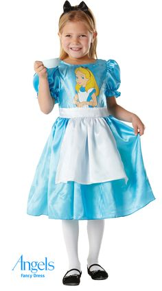 Alice has always been a popular character for fancy dress but with Book Week gathering speed every year she is starting a trend all of her own! Her costume is a blue dress with attached apron and a character print on the bodice. http://www.fancydress.com/costumes/Alice-in-Wonderland-Classic-/0~4336970~45