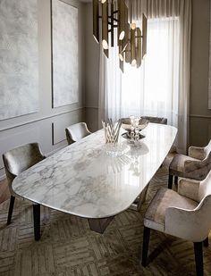 47 Creative Scandinavian Dining Room Design Ideas That Inspire You Dinning Table Design, Dining Room Table, Marble Dinning Table, Modern Dining Table, Casa Milano, Esstisch Design, Dinner Room, Dinner Table, Furniture Design