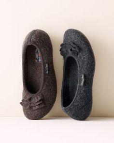 Haflinger Ruffle Ballet Slippers