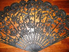 Retro 1970's Victorian Wall Fan Black Ornate Like Home http://TheIDconnection.etsy.com $85.00 vintage 1970's wall art http://antiquetexascity.blogspot.com