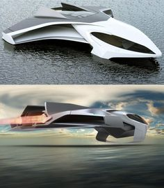 Although its not the first flying yacht you've seen on this list, Jaron Dickson's Ekrano is the only one that looks like a futuristic fighter jet and its hard to be cooler than that.