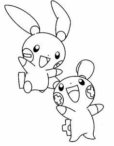 Two Pokemon Unique Coloring Page