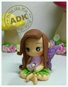 CUTE!!! polymer clay fairy :3