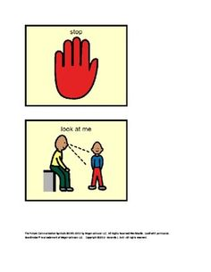 Behavior Wrist Cards for special needs; behavioral issues;  autism; visuals.  FREE!