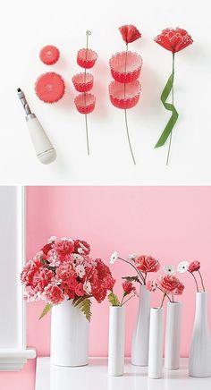 bloemen van cupcakebakjes