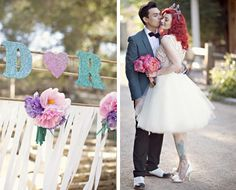 this is a cute 50´s style wedding