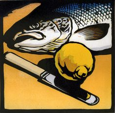 Online shopping for Woodcuts - Prints from a great selection at Collectibles & Fine Art Store. Linocut Prints, Art Prints, Block Prints, Illustrations, Illustration Art, Linoprint, Art Graphique, Fish Art, Wood Engraving