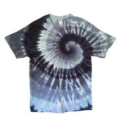 Tie Dye T Shirt  Grey Spirals  Hippie by RainbowEffectsTieDye