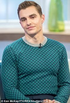 Dave Franco sports sweatshirt for a Lorraine interview | Daily Mail Online