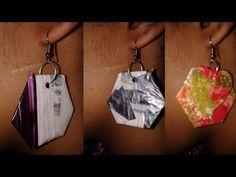 PENDIENTES - ARETES PAPEL Y CARTON - PAPER & CARDBOARD EARRINGS - YouTube