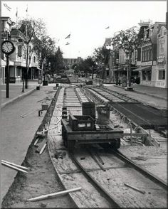 Main street Disneyland under construction